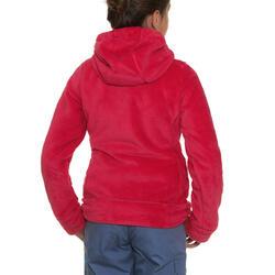 Fleece meisjeshoodie voor trekking Warm - 92028