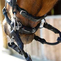 Beschermer voor kinketting in neopreen, ruitersport, zwart - 920747
