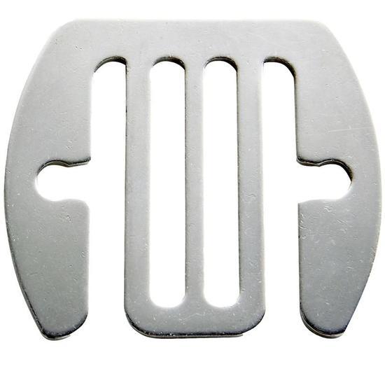 Geleidende verbindingsstukken rvs voor schriklint tot 40 mm - 5 stuks - 921278