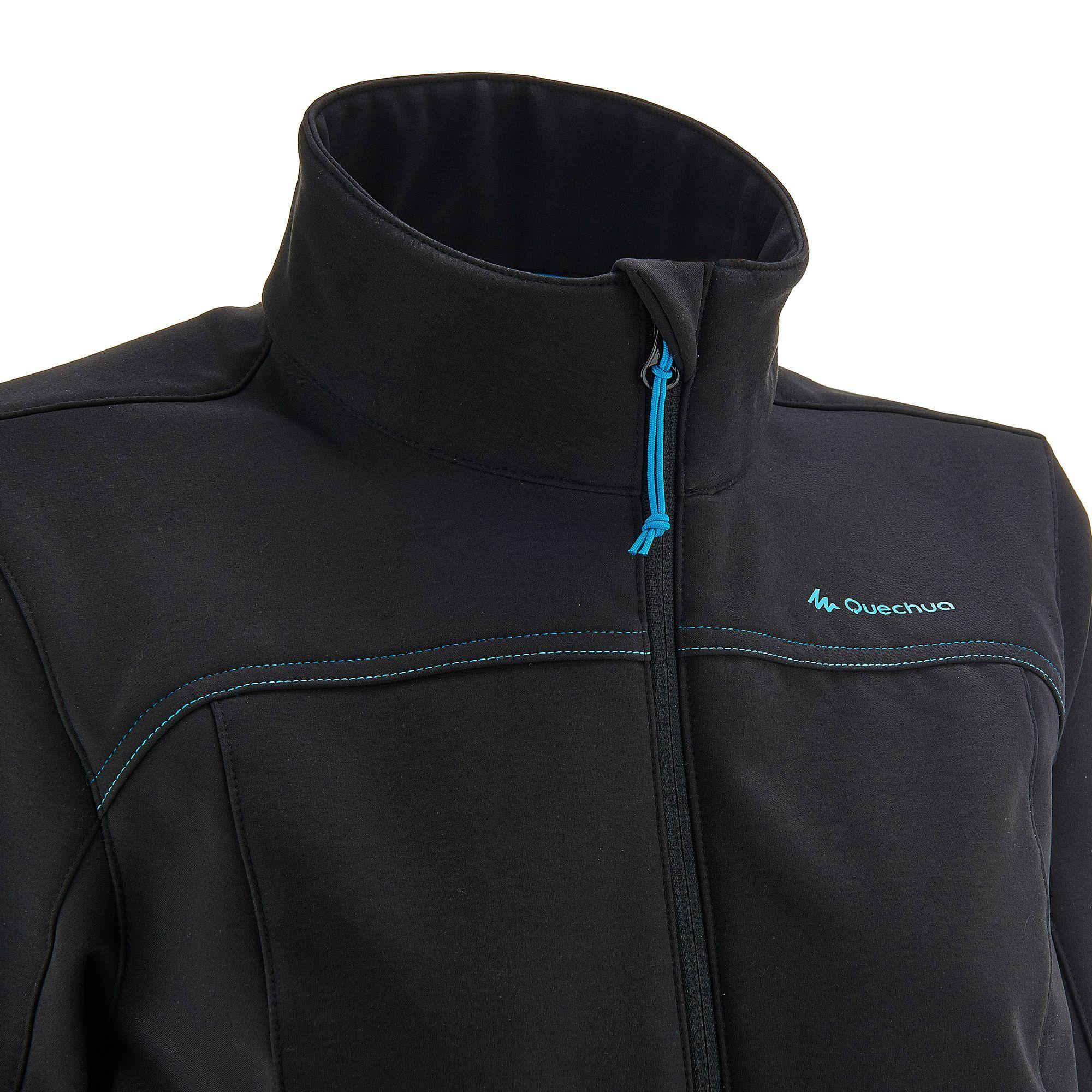 Women's WindWarm 100 Hiking Softshell Jacket - Black
