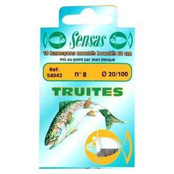 Onderlijn voor forelvissen met dobber Sensas Special Forel