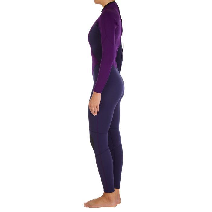 Combinaison SURF 100 Néoprène 2/2 mm Femme Violet - 921891