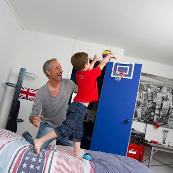 Panneau de basket set mini B Deluxe pour enfant et adulte à fixer au mur - 921908
