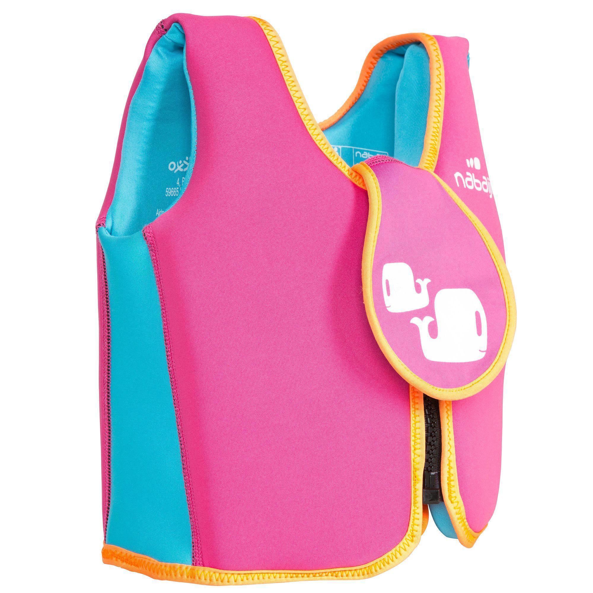 Gilet de natation rose jaune nabaiji - Maillot de bain piscine decathlon ...