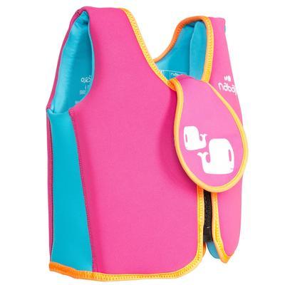 Swim vest pink-yellow
