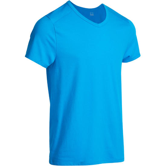 Heren T-shirt voor gym en pilates, slim fit - 922895