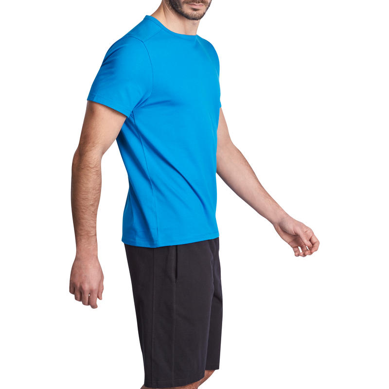 Active Short-Sleeved Regular-Fit Fitness T-Shirt - Light Blue