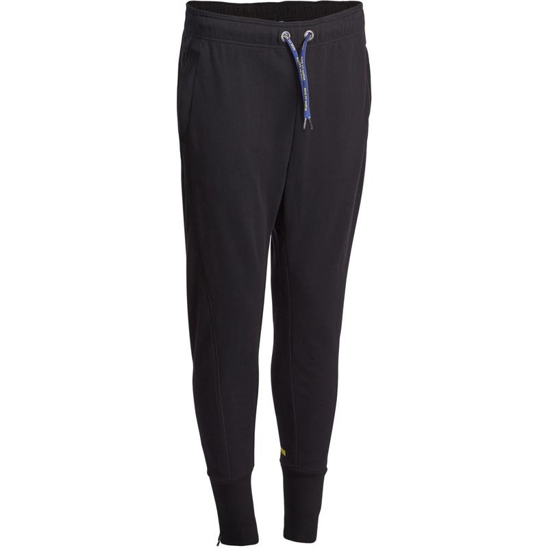 Warme broek Slim Team Fitness heren zwart | Domyos by Decathlon