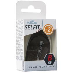 Glas op sterkte -2 voor zwembril 500 Selfit maat L getint