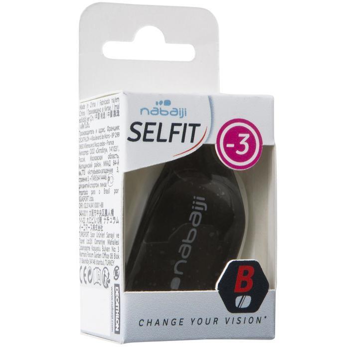 Schwimmbrillen-Glas Selfit -3 Dioptrien Größe L getönt
