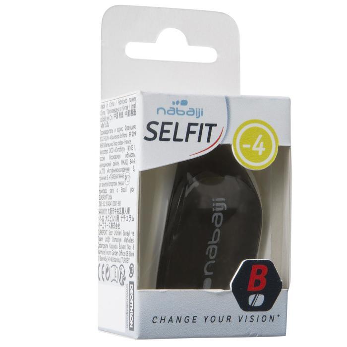 Glas op sterkte voor zwembril Selfit -4 500 maat L getint