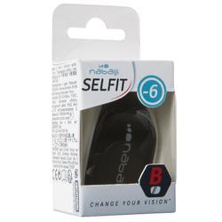 Glas op sterkte 0 voor zwembril Selfit 500 maat L getint