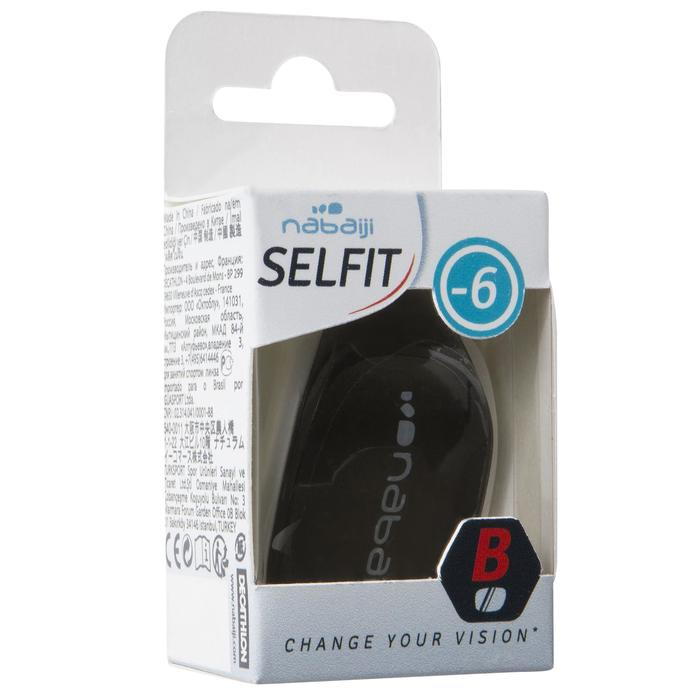 Selfit Optical Lens Corrective Swimming Goggles Size S - Smoke -2 - 923614