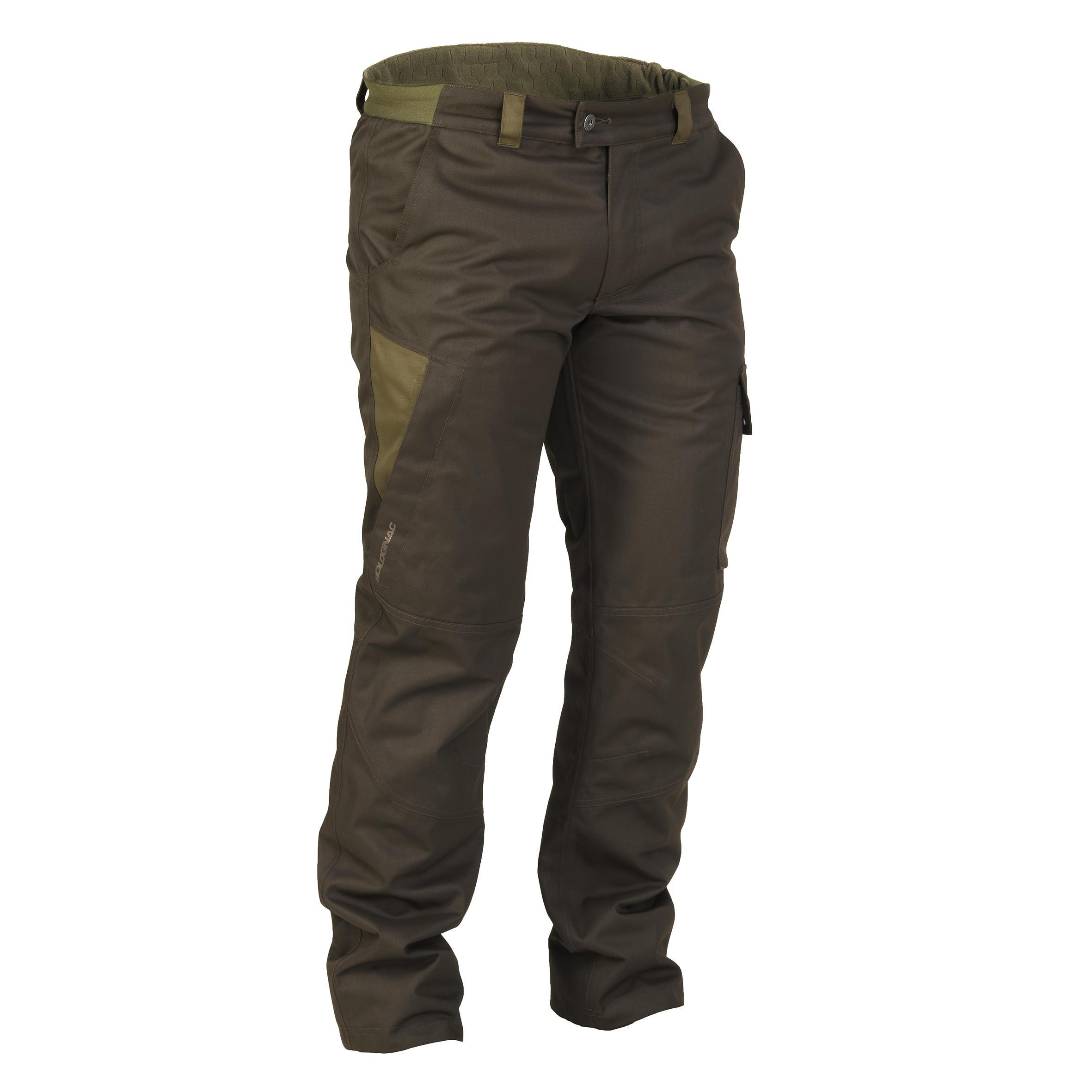 Pantalon chasse impermeable chaud 500 marron solognac