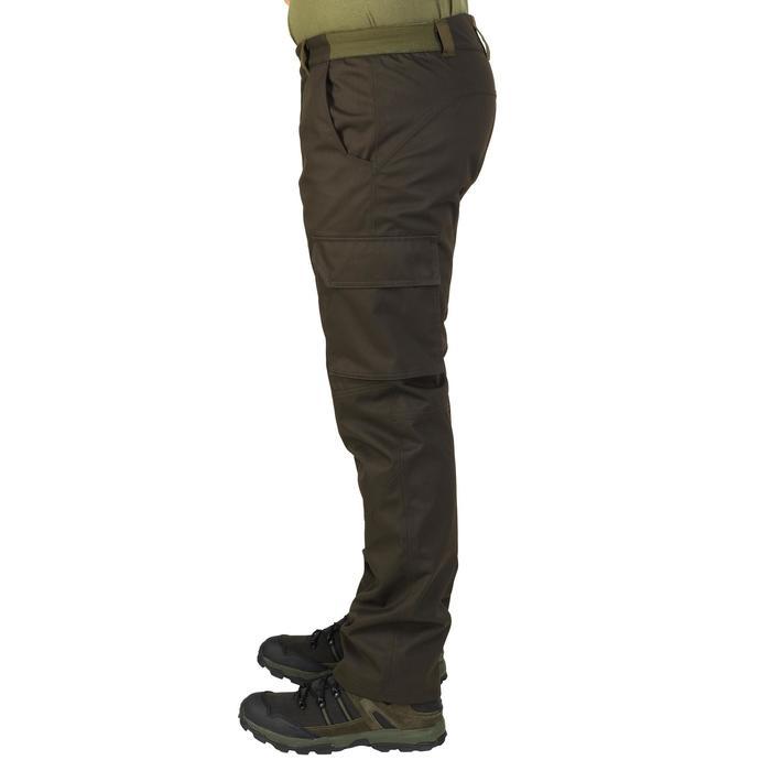 Pantalón Caza Solognac BGP 500 Impermeable Cálido Marrón