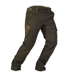 Warme waterdichte broek voor de jacht 500 bruin