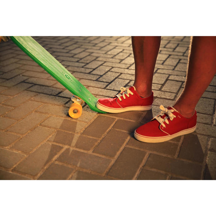 Lage skateboardschoenen voor heren Vulca canvas allover grijs