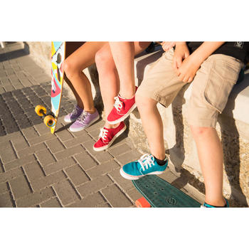 Skateschuh Sneaker Vulca 100 Canvas Longboard Erwachsene Full schwarz