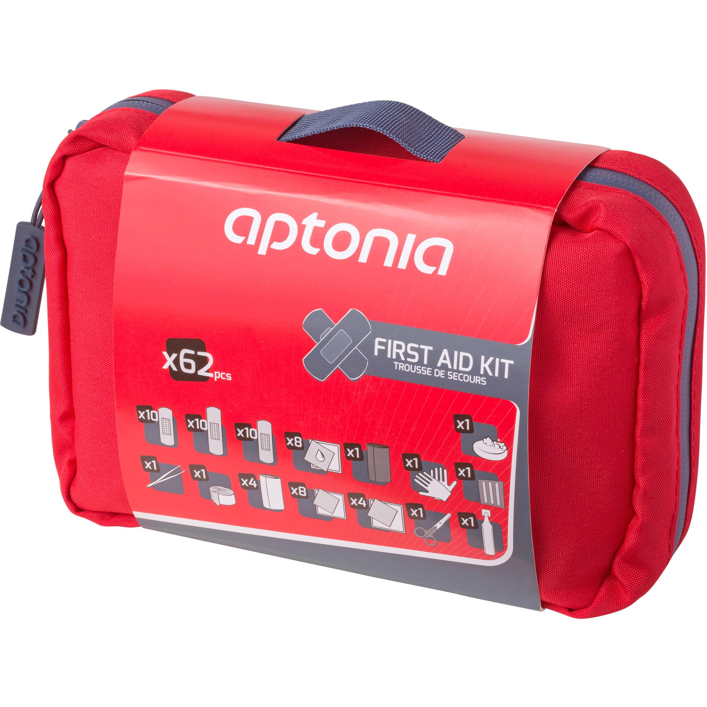 forclaz kit 1er secours 500 rouge decathlon. Black Bedroom Furniture Sets. Home Design Ideas