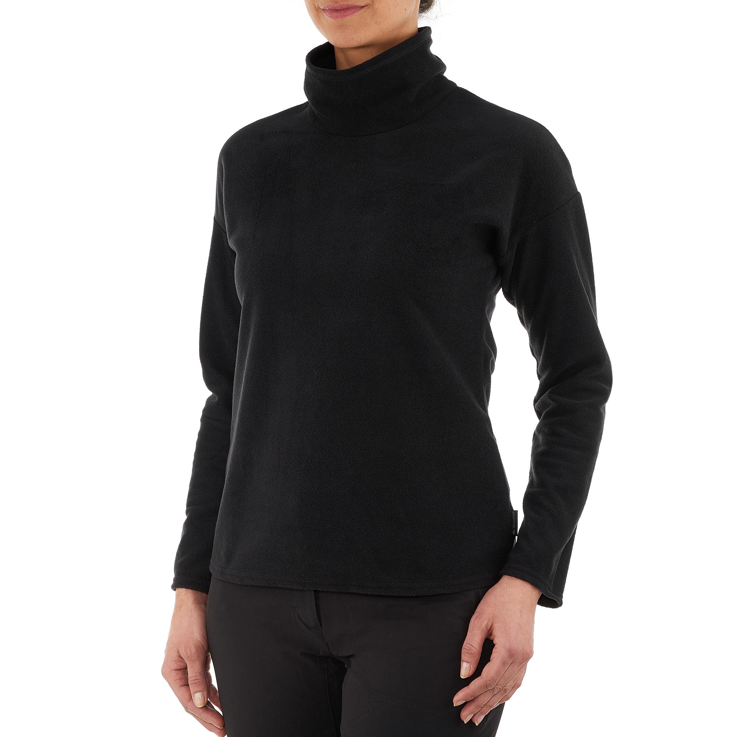 Women's Mountain Hiking Fleece MH20 - Black