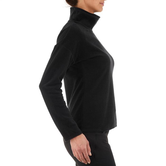 Fleecepullover MH20 Bergwandern Damen schwarz