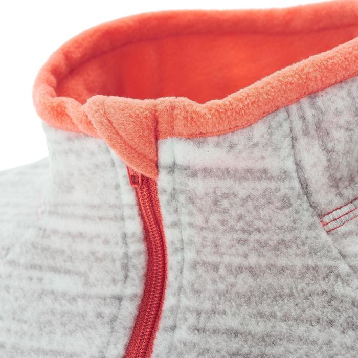 Fleecepullover Forclaz 50 Damen Print weiß meliert