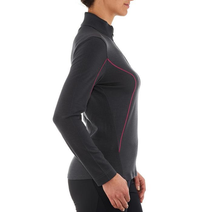 T-Shirt manches longues zip trekking Techwool 190 laine femme - 924871
