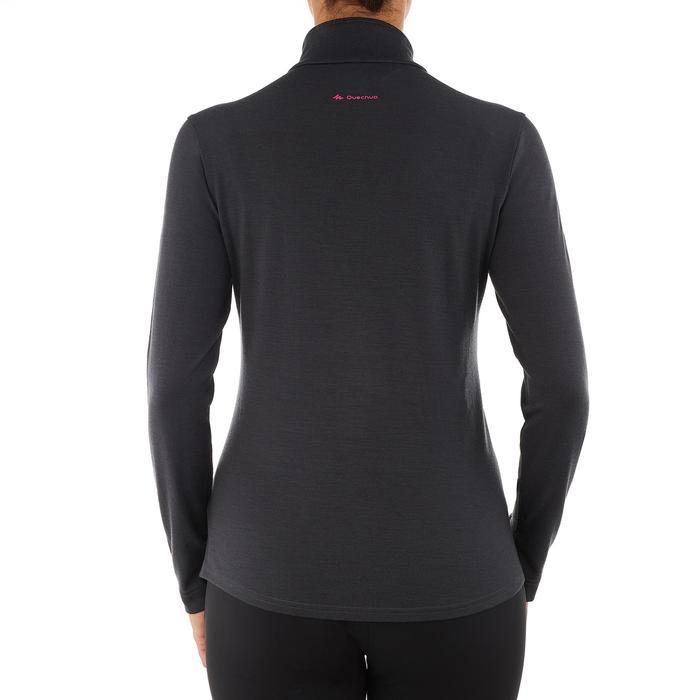 Merinoshirt Langarm Zip Techwool 190 Damen schwarz