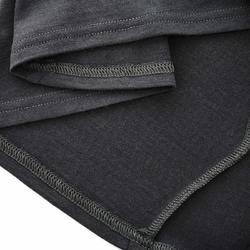 Damesshirt met lange mouwen en rits voor trekking Techwool 190 - 924873