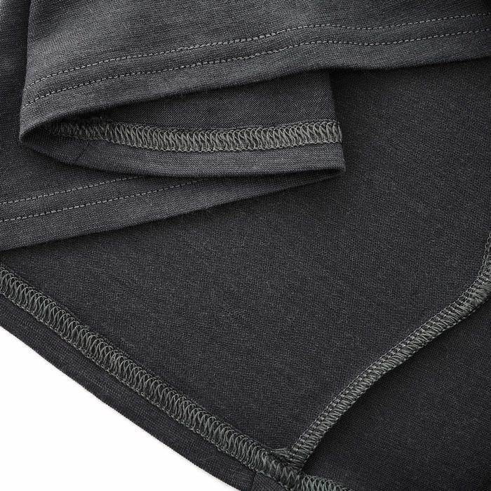T- Shirt manches longues trekking montagne TECHWOOL190 zip femme noir