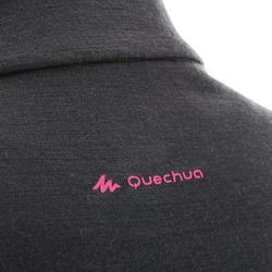 Damesshirt met lange mouwen en rits voor trekking Techwool 190 - 924879