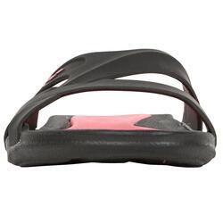 Damesslippers Athena Hook zwart/roze - 92519