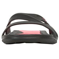Damesslippers Athena Hook zwart/roze - 92523