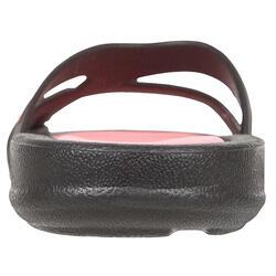 Damesslippers Athena Hook zwart/roze - 92524