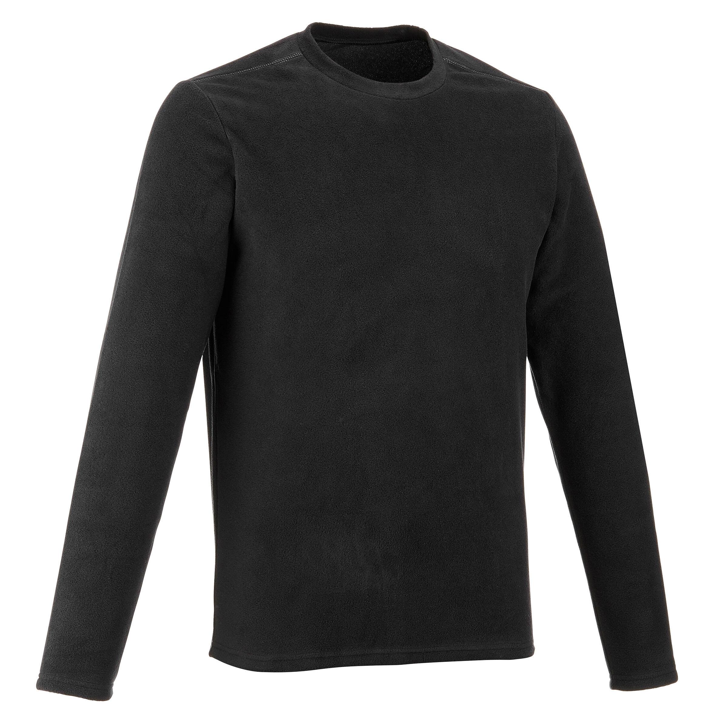 Forclaz 20 Men's Hiking Fleece - Black
