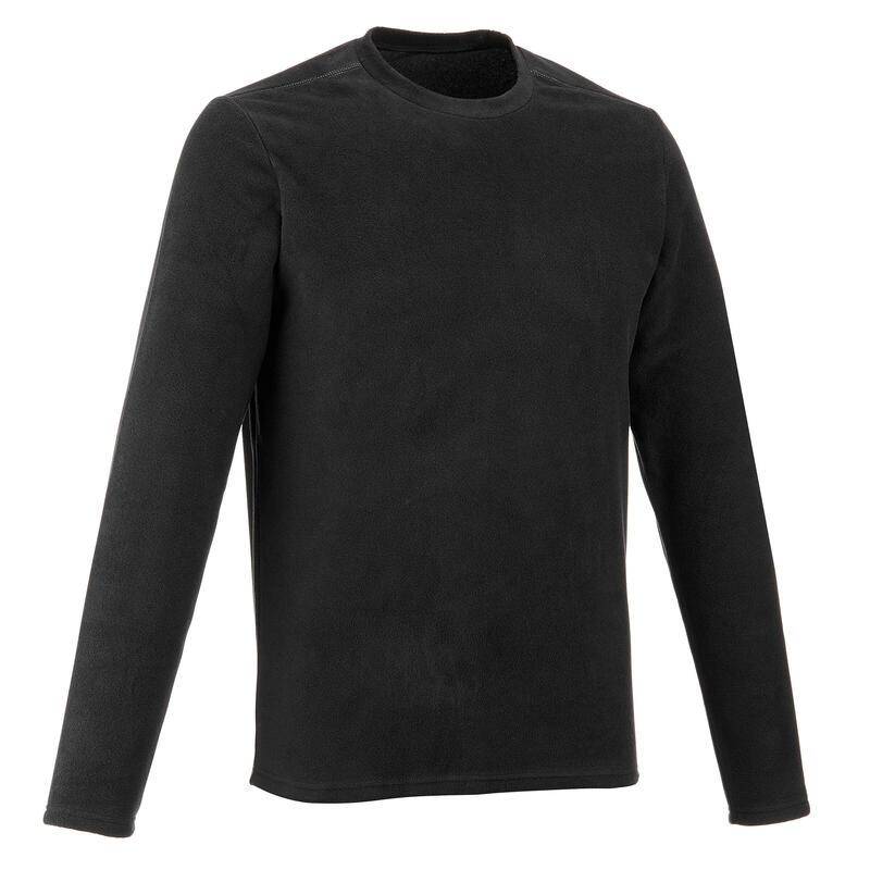 MH20 Men's Mountain Hiking Fleece Sweater - Black