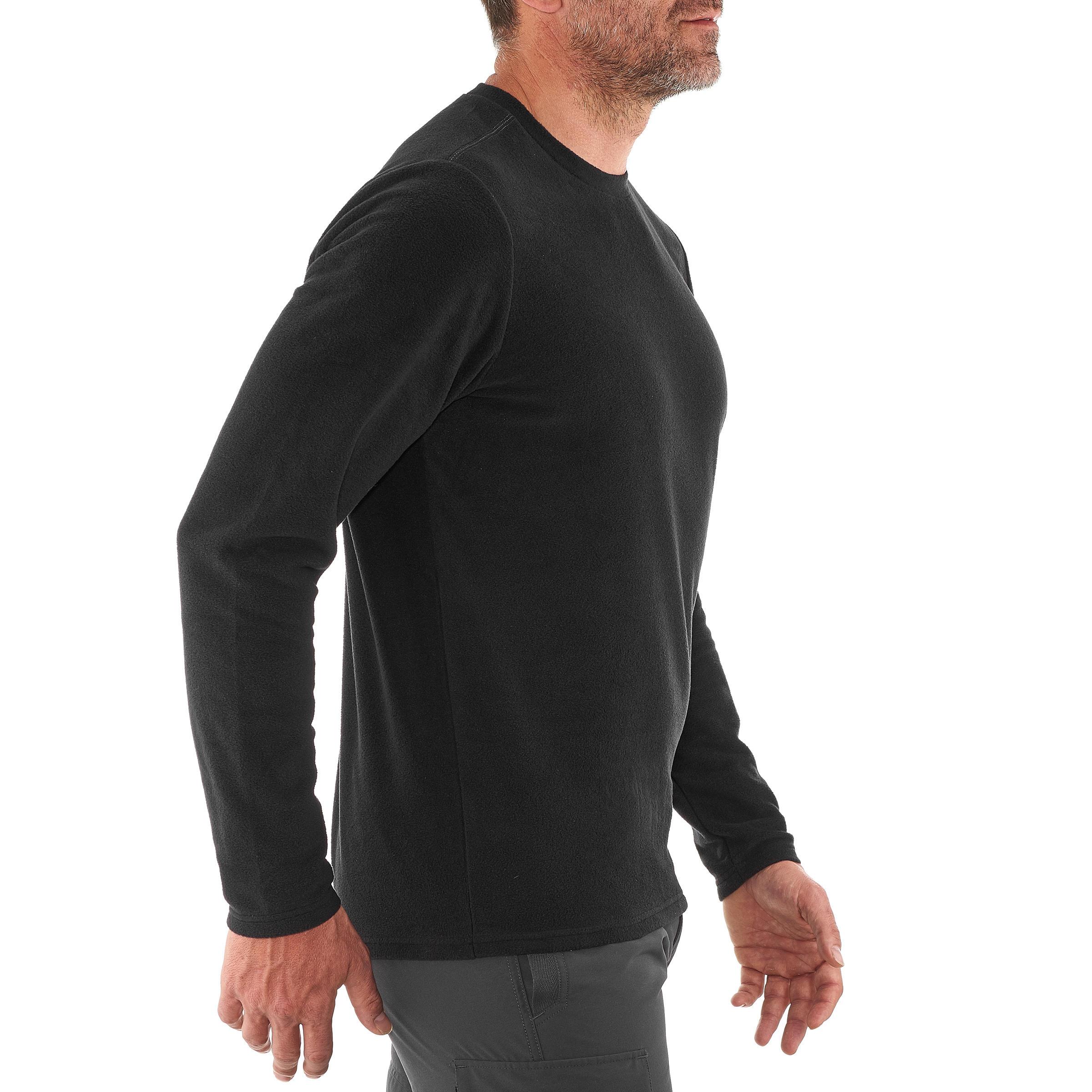 Men's Mountain Hiking Fleece MH20 - Black