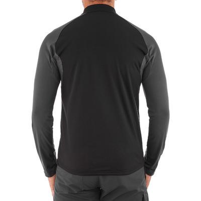 SH100 חולצת טריקו חמה עם שרוול אורך לטיולים גברים - לבן