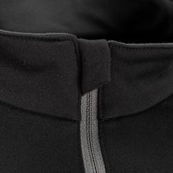 T-shirt de randonnée neige manches longues homme SH100 chaud noir.