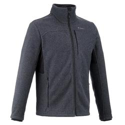 Men's Mountain Walking Fleece Jacket MH300 - Grey