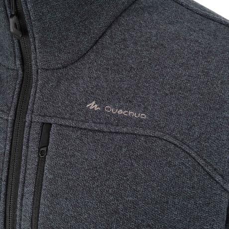 veste polaire randonn e montagne homme forclaz 500 gris fonc quechua. Black Bedroom Furniture Sets. Home Design Ideas
