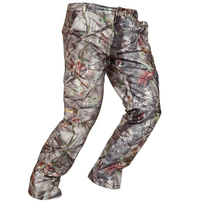 Pantalon Caza Solognac 520 Impermeable Calido Camuflaje Marron