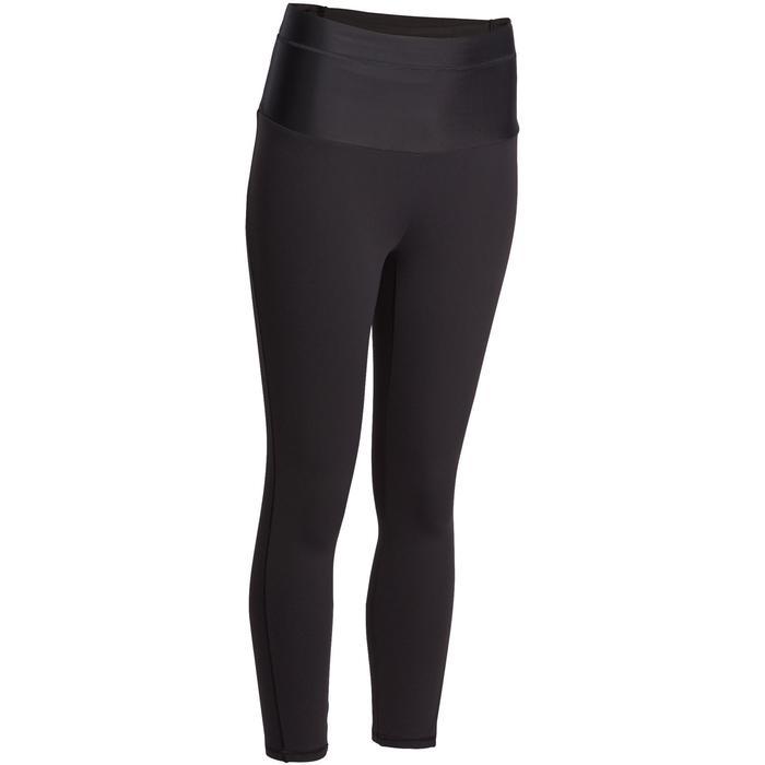 Legging 7/8 effet ventre plat fitness femme noir Shape