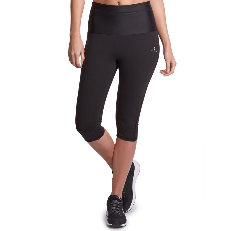 Shape Women's Fitness Flat-Stomach Cropped Bottoms - Black