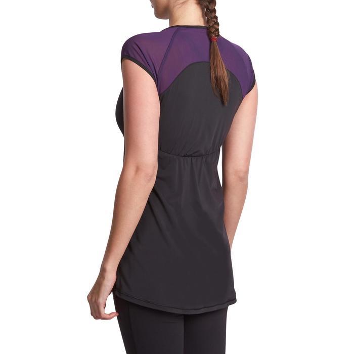 T-shirt galbant SHAPE+ fitness femme noir et violet - 926767