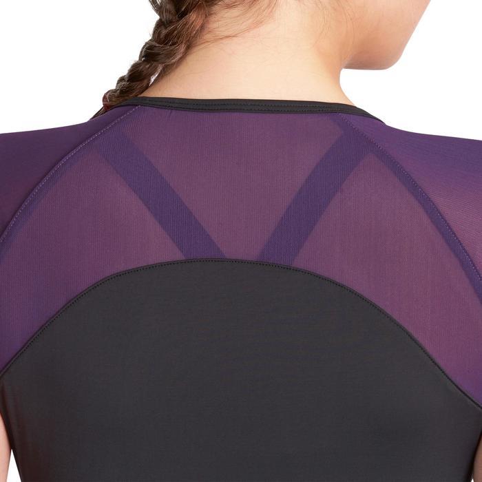 T-shirt galbant SHAPE+ fitness femme noir et violet - 926774