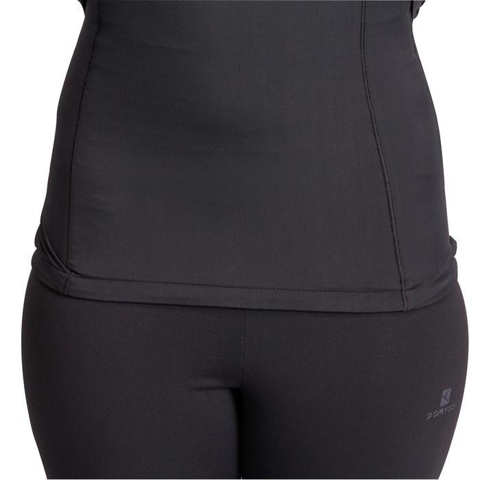 T-shirt galbant SHAPE+ fitness femme noir et violet - 926775