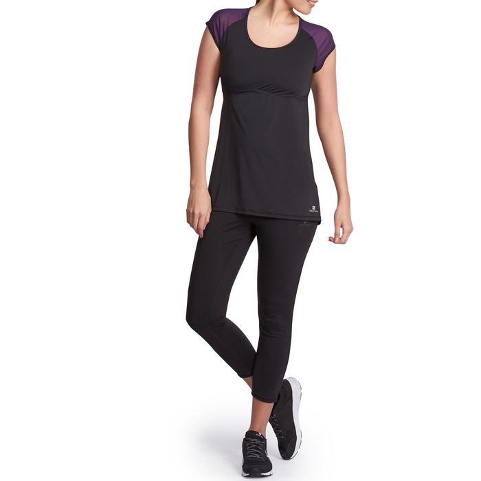 T-shirt galbant SHAPE+ fitness femme noir et violet - 926778