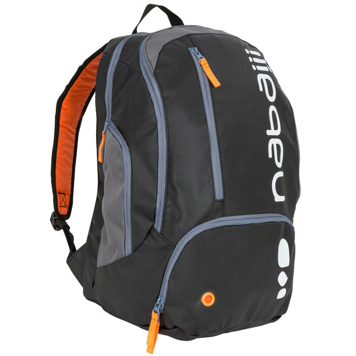 34L Pool Backpack - Black Orange