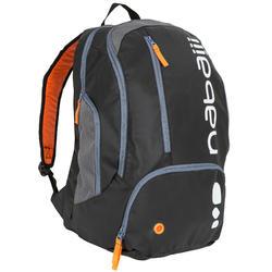 34 L游泳背包 - 黑色橘色